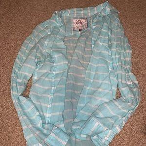 Light blue wire stripped shirt